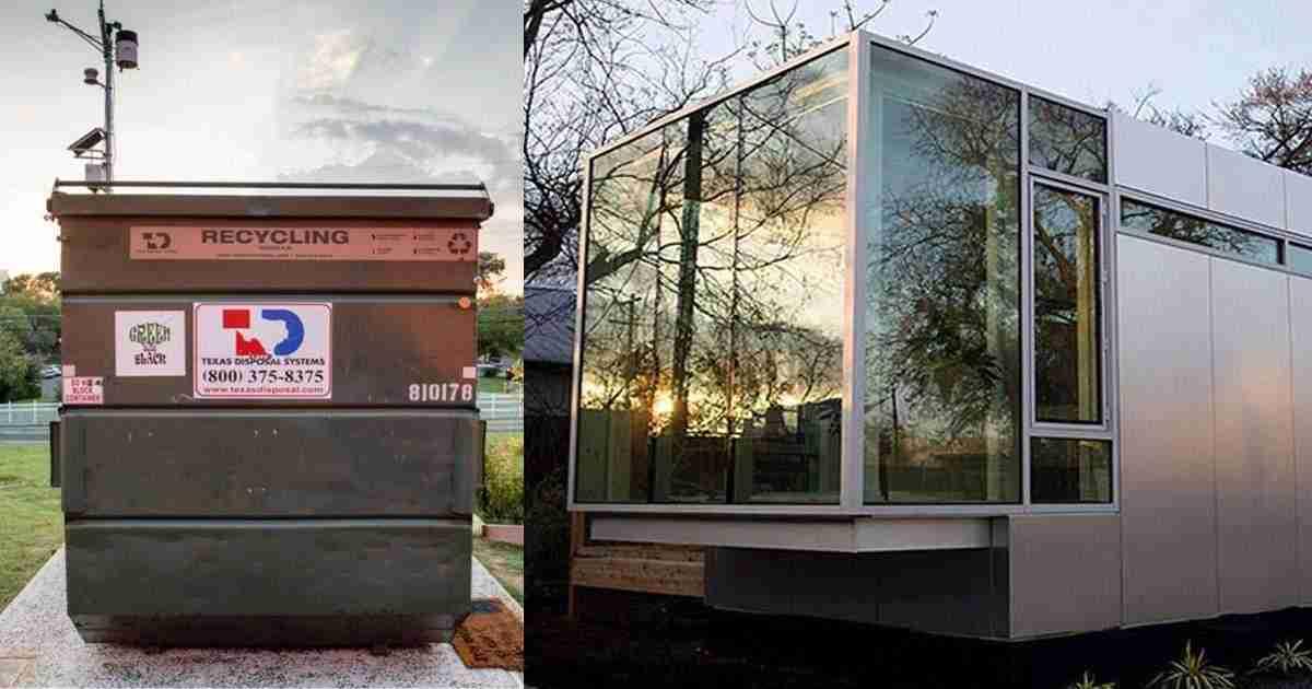 Esta es la casa de 32m2 que un profesor ha creado tras vivir un a o en un contenedor de basura - Vivir en un contenedor ...