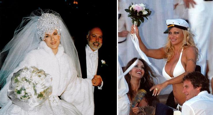 los 12 peores vestidos de novia de las famosas ¡el #9 es el más feo!