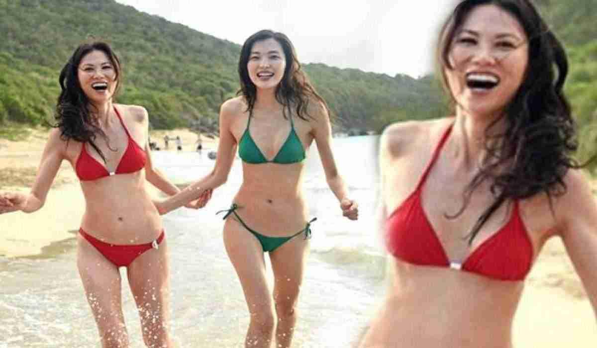 Gran bbw en bikini playa
