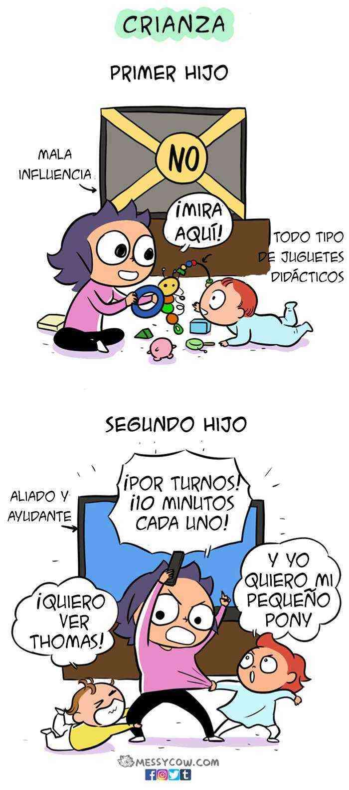 1521224193 769 16 comics divertidos y honestos que muestran la diferencia entre tener el primer y el segundo hijo - 16 Cómics divertidos y honestos que muestran la diferencia entre tener el primer y el segundo hijo