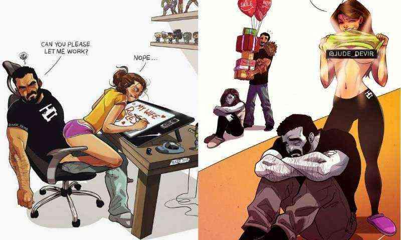 Este Artista Ilustra Su Vida En Pareja Y El Resultado Es