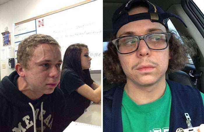 Intentando aguantar un pedo junto a una chica guapa en clase (Michael McGee)