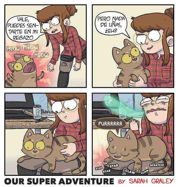 1533917943 537 esta dibujante ilustra su vida diaria con su novio y sus 4 gatos y querras ver mas - Esta dibujante ilustra su vida diaria con su novio y sus 4 gatos, y querrás ver más