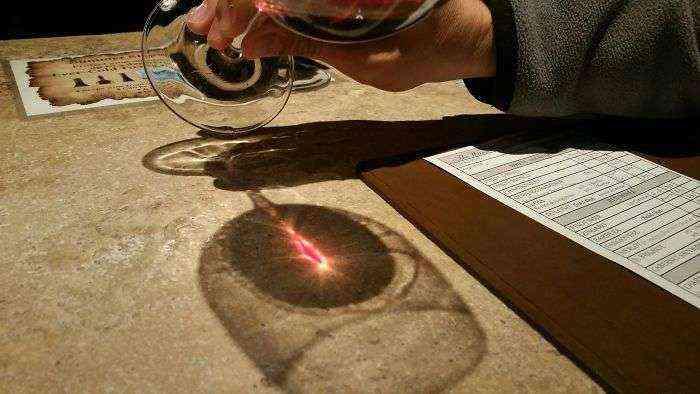 He encontrado el ojo de Sauron durante una cata de vinos