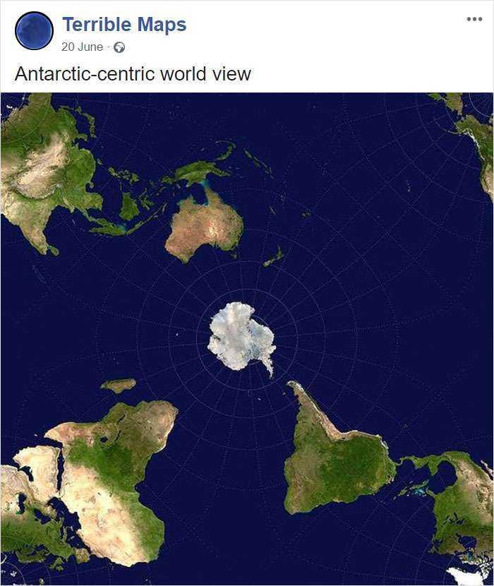 El mundo visto desde la Antártida