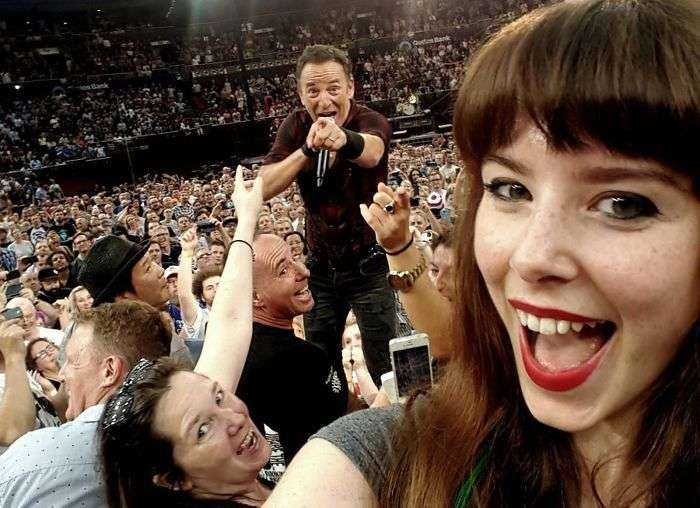 Un selfie con Bruce Sprinsteen