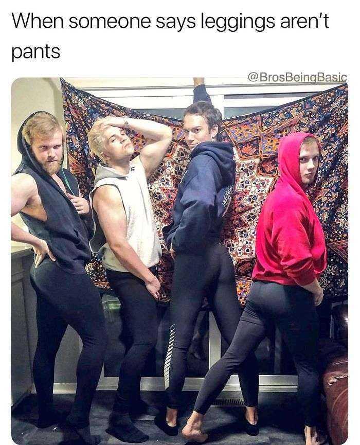 Cuando alguien dice que los leggings no son pantalones