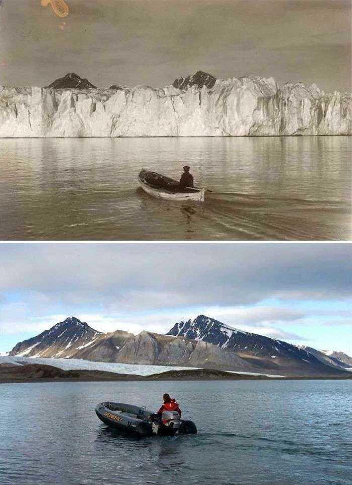 El ártico hace 103 años y hoy en día