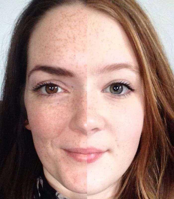 He comparado la mitad de mi cara con la de mi hija, y es increíble