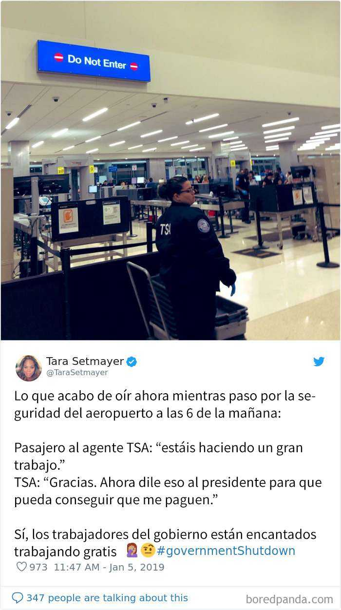 1547058768 192 20 reveladores tuits de viajeros que muestran los peligros del cierre de la administracion - 20 Reveladores tuits de viajeros que muestran los peligros del cierre de la administración