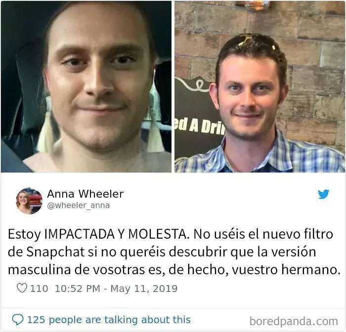1557848018 941 20 personas que probaron el nuevo filtro de snapchat para cambiar de genero y quedaron sorprendidos con los resultados - 20 Personas que probaron el nuevo filtro de Snapchat para cambiar de género y quedaron sorprendidos con los resultados