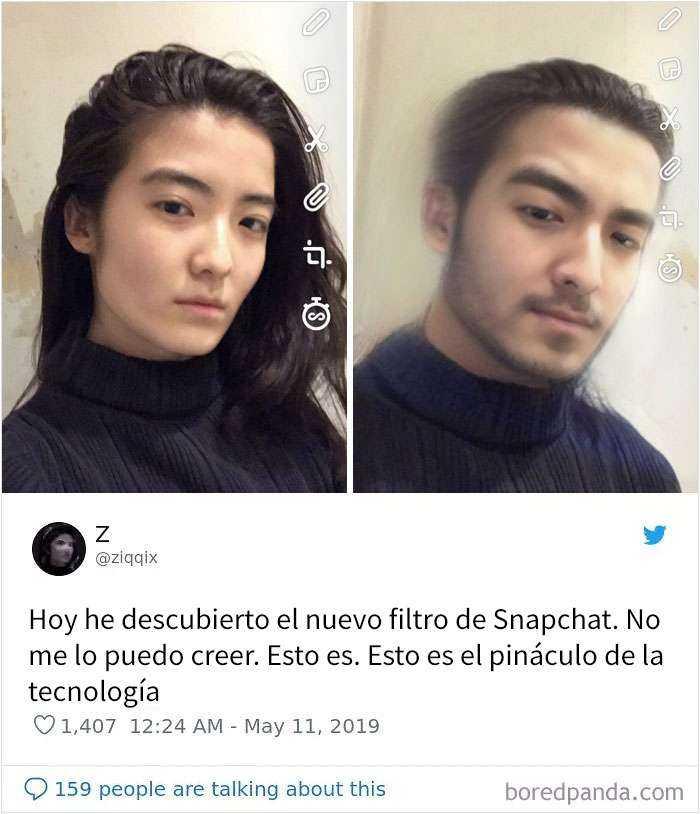 1557848019 328 20 personas que probaron el nuevo filtro de snapchat para cambiar de genero y quedaron sorprendidos con los resultados - 20 Personas que probaron el nuevo filtro de Snapchat para cambiar de género y quedaron sorprendidos con los resultados