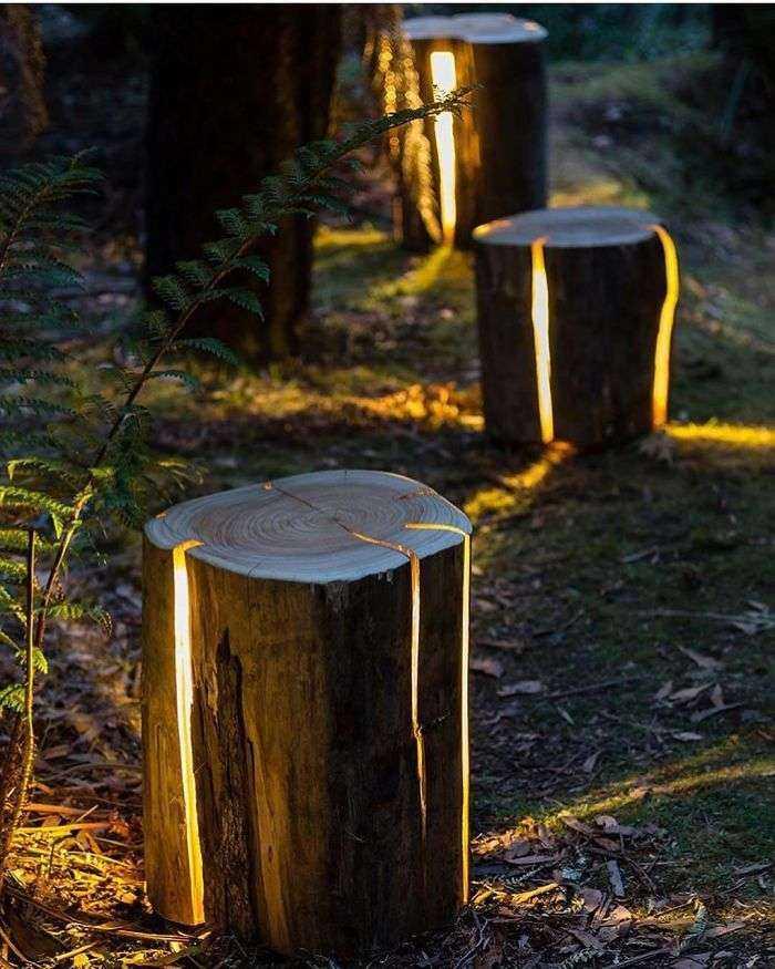 Lámpara de tronco resquebrajado, Duncan Meerding