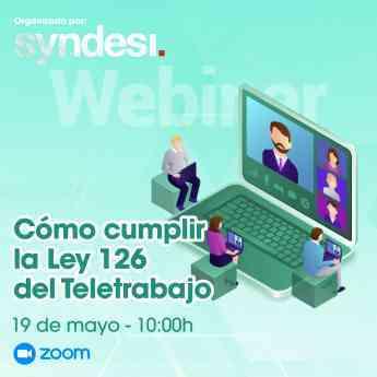 """152 syndesi consulting celebra el webinar como cumplir la ley 126 del teletrabajo - Syndesi Consulting celebra el webinar  """"Cómo cumplir la ley 126 del teletrabajo"""""""