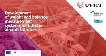 """792 tekniker y dibal colaboran en un sistema de medicion de peso y equilibrio de aeronaves tipo tiltrotor - Tekniker y Dibal colaboran en un sistema de medición de peso y equilibrio de aeronaves tipo """"tiltrotor"""""""