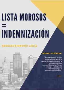 771 abogados madrid legal indemnizacion por inclusion indebida en ficheros de morosos - Abogados Madrid Legal: Indemnización por inclusión indebida en ficheros de morosos