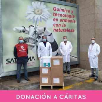 99 satecma dona productos para desinfeccion a caritas y la federacion espanola de bancos de alimentos - SATECMA dona productos para desinfección a Cáritas y la Federación Española de Bancos de Alimentos