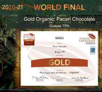 """301 pacari se alza con 16 galardones en los premios oscar del chocolate - Pacari se alza con 16 galardones en los premios """"Oscar del chocolate"""""""
